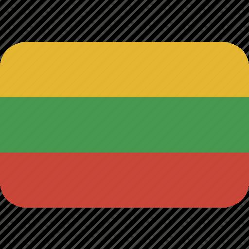 lithuania, rectangle, round icon