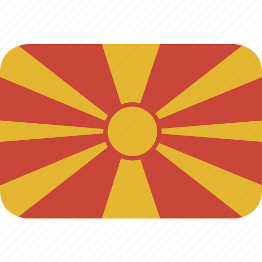 macedonia, rectangle, round icon
