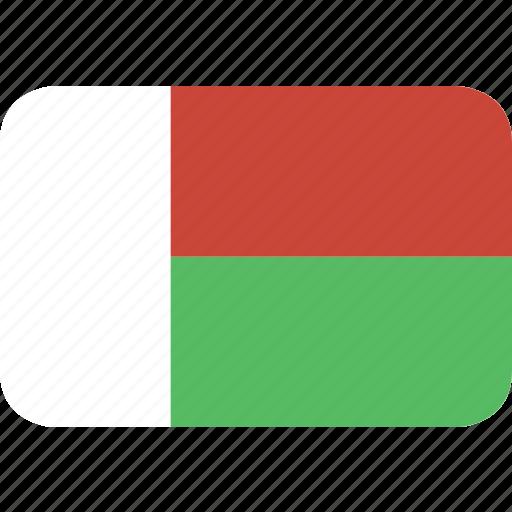 madagascar, rectangle, round icon