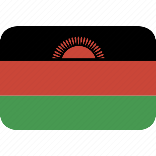 malawi, rectangle, round icon