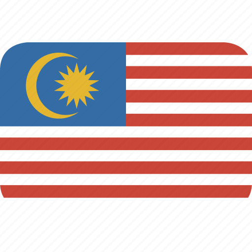 malaysia, rectangle, round icon