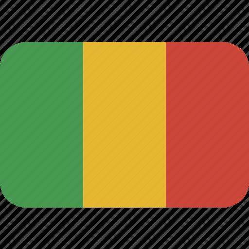 mali, rectangle, round icon