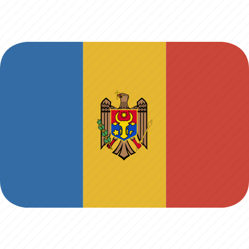 moldova, rectangle, round icon