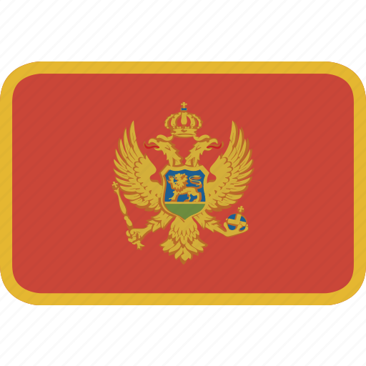 montenegro, rectangle, round icon