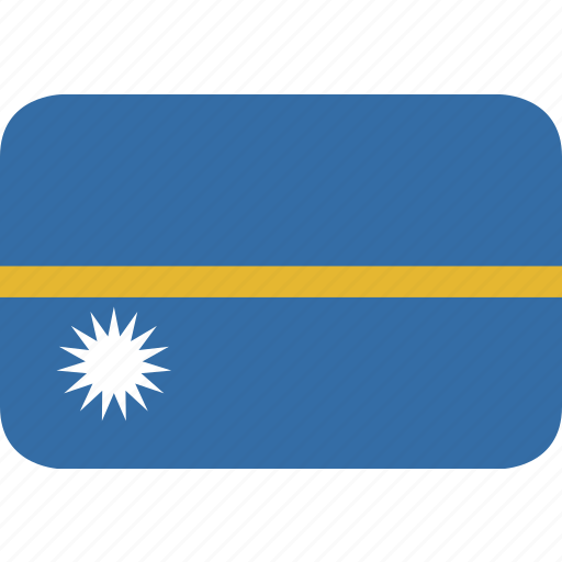 nauru, rectangle, round icon