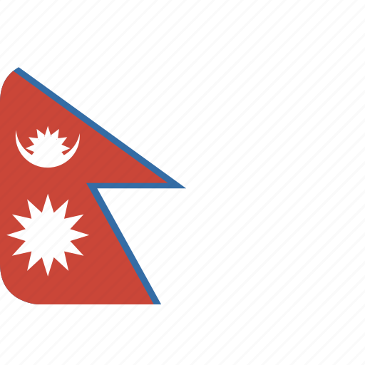 nepal, rectangle, round icon