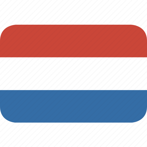 netherlands, rectangle, round icon
