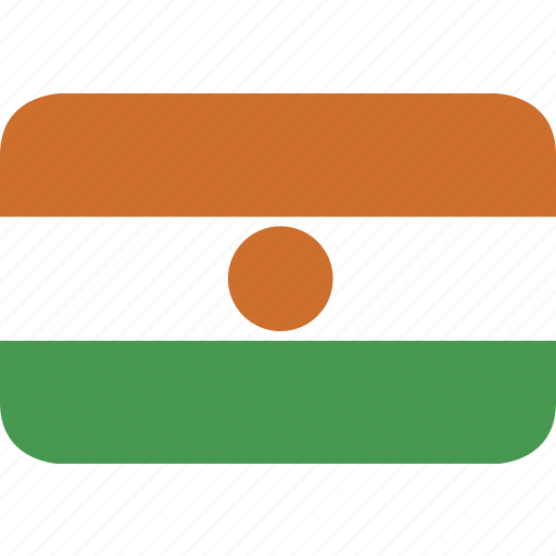 niger, rectangle, round icon
