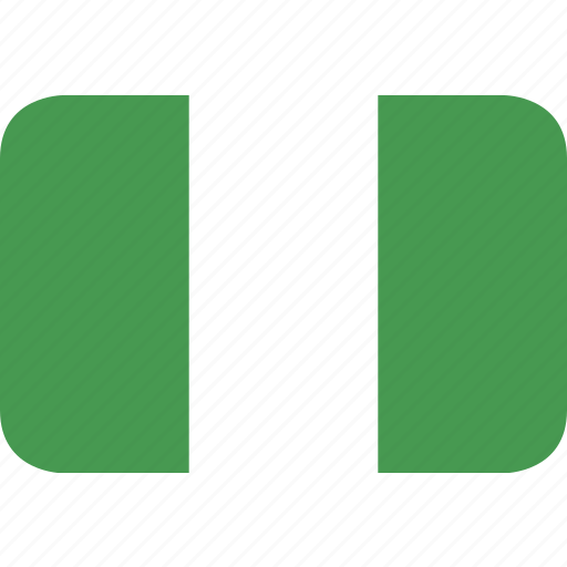 nigeria, rectangle, round icon