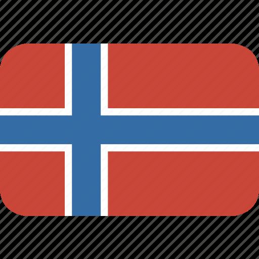 norway, rectangle, round icon