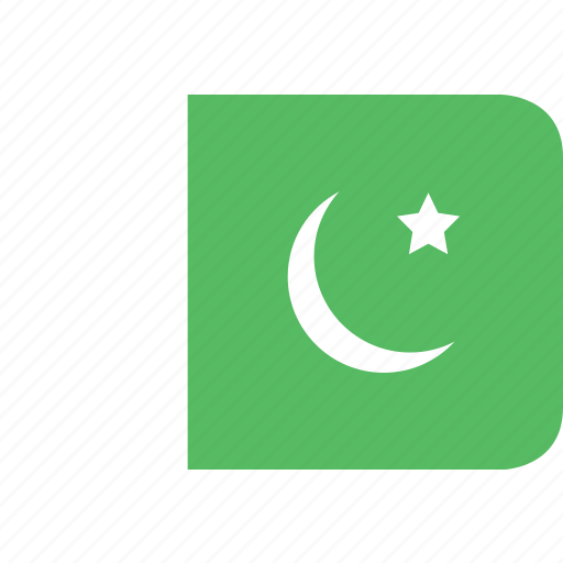 pakistan, rectangle, round icon