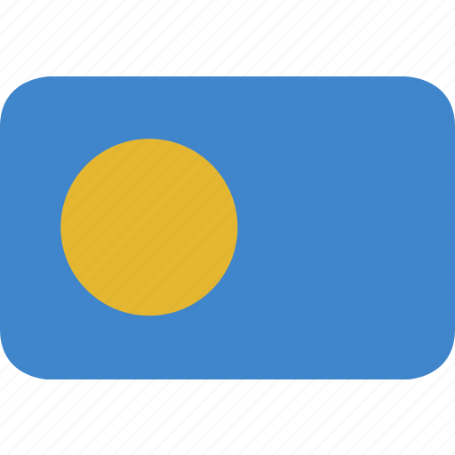 palau, rectangle, round icon