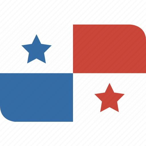 panama, rectangle, round icon