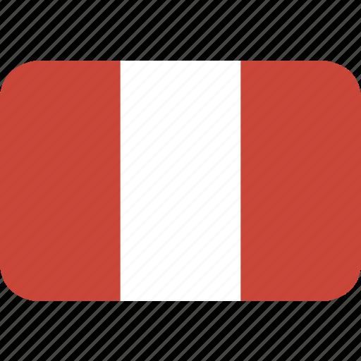 peru, rectangle, round icon