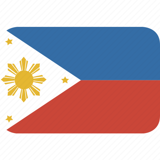 philippines, rectangle, round icon