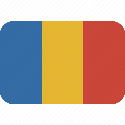 rectangle, romania, round icon