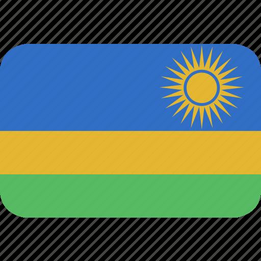 rectangle, round, rwanda icon
