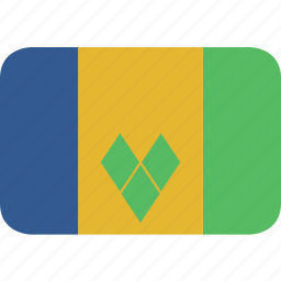 and, grenadines, rectangle, round, saint, vincent icon