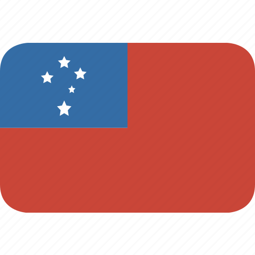 rectangle, round, samoa icon