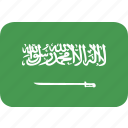 arabia, rectangle, round, saudi icon