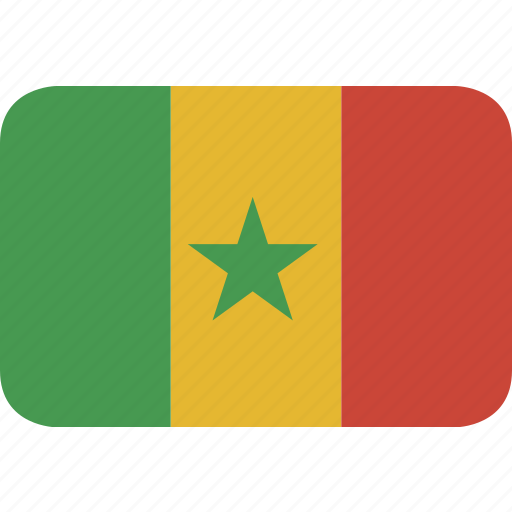 rectangle, round, senegal icon