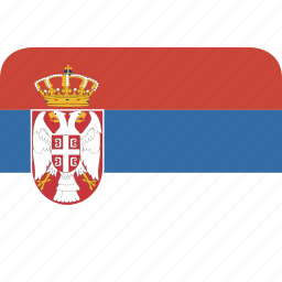 rectangle, round, serbia icon