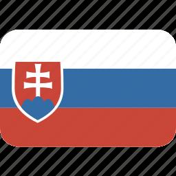 rectangle, round, slovakia icon