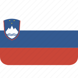 rectangle, round, slovenia icon