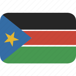 rectangle, round, south, sudan icon