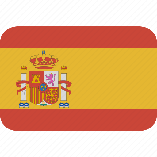 rectangle, round, spain icon