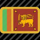 lanka, rectangle, round, sri icon