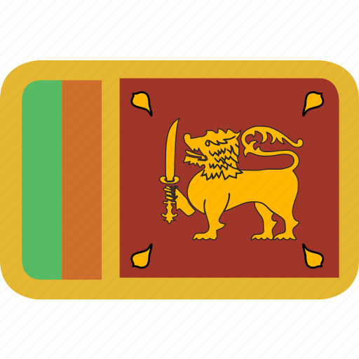 lanka, rectangle, round, sri icon