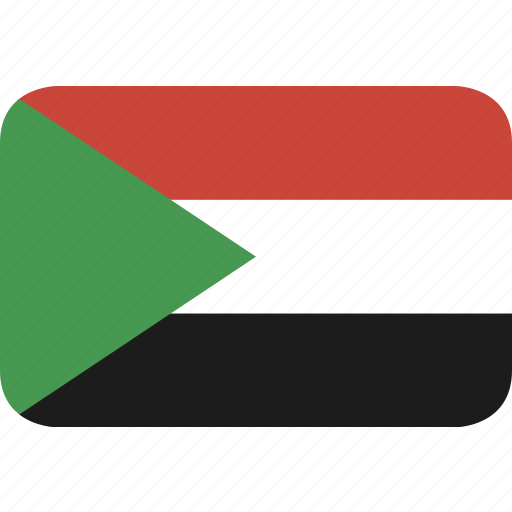 rectangle, round, sudan icon