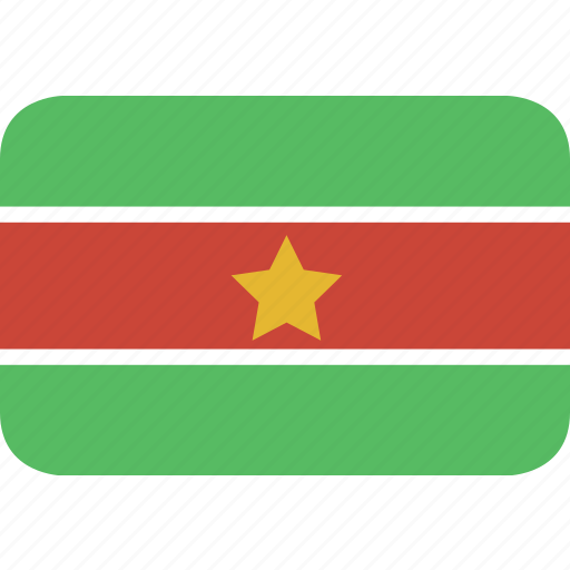 rectangle, round, suriname icon