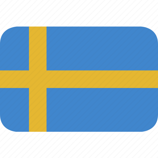 rectangle, round, sweden icon