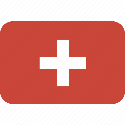 rectangle, round, switzeland icon