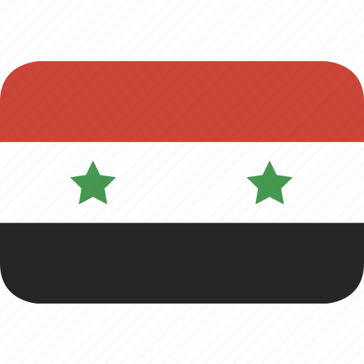 rectangle, round, syria icon