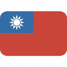 rectangle, round, taiwan icon