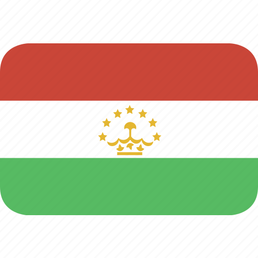 rectangle, round, tajikistan icon