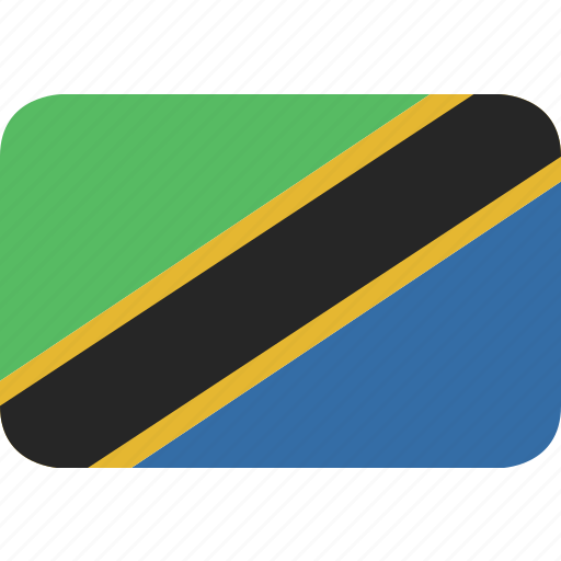 rectangle, round, tanzania icon