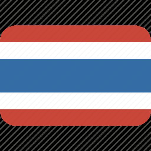 rectangle, round, thailand icon
