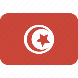 rectangle, round, tunisia icon