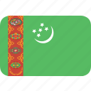 rectangle, round, turkmenistan icon