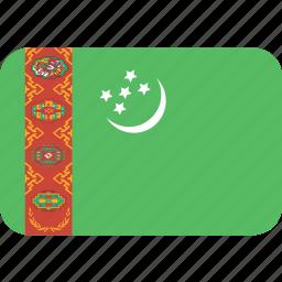 rectangle, round, turkmenistan icon