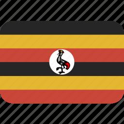 rectangle, round, uganda icon