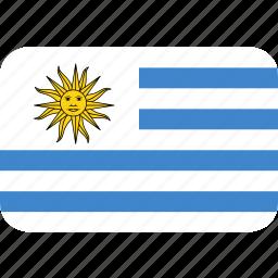 rectangle, round, uruguay icon