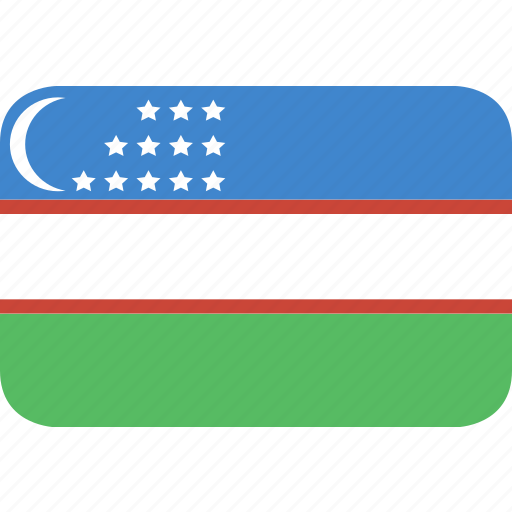 rectangle, round, uzbekistan icon