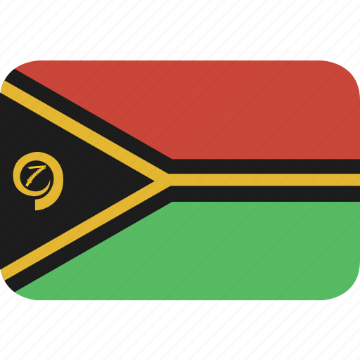 rectangle, round, vanuatu icon