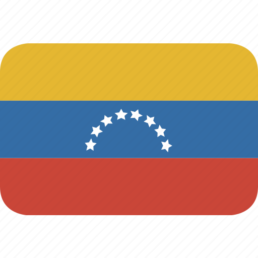 rectangle, round, venezuela icon