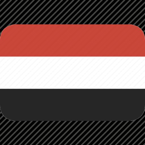 rectangle, round, yemen icon
